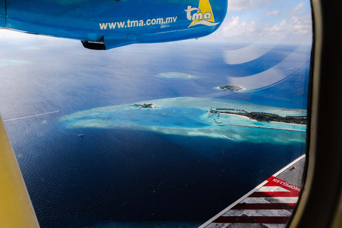 Maldives from the air